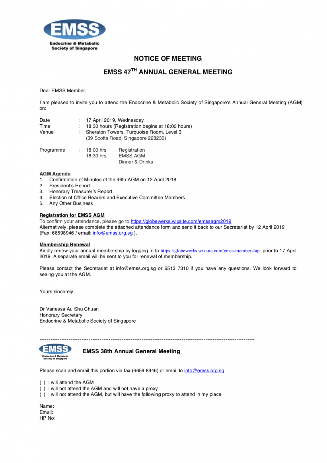 EMSS 47th Annual General Meeting   Endocrine and Metabolic