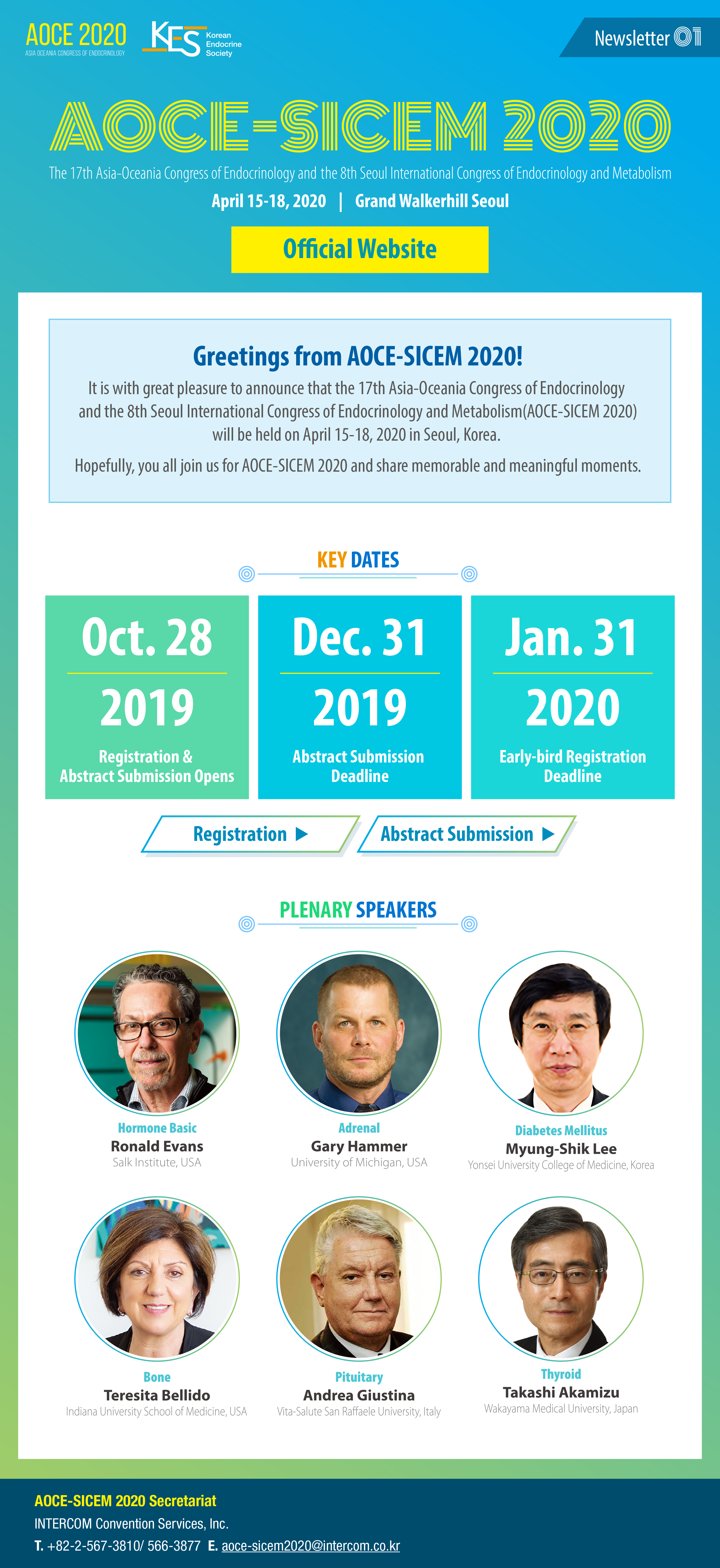 AOCE-SICEM 2020_1st Newsletter_All participants | Endocrine and ...